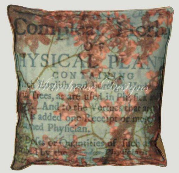 Dogwood Blue Accent Box Pillow
