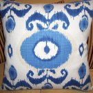HIGH END IKAT ACCENT PILLOW NEW