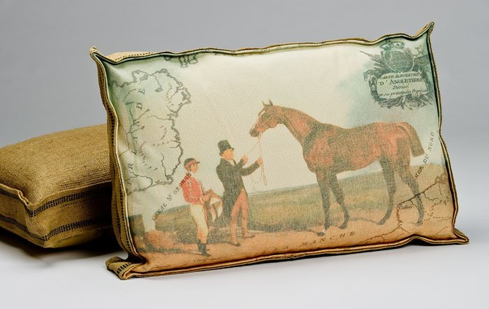 Equestrian Box Pillow