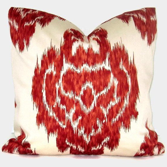 Killiman Red Ikat Accent Pillow