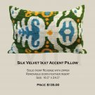 SILK VELVET IKAT ACCENT PILLOW