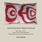 SILK VELVET IKAT ACCENT PILLOW ~ TIMBALE