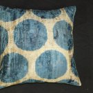 Hand milled cotton silk accent pillow