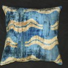 Hand loomed silk Velvet accent pillow B.