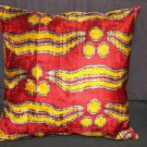 Multi Colored Silk Ikat Pillow