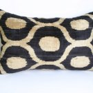 SILK VELVET IKAT ACCENT PILLOW Ebony