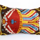 Phoenix Silk Ikat Velvet Pillow