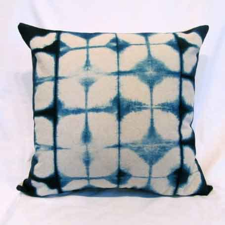 Shibori Linen Accent Pillow