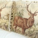Pair Of Aubusson Deer Pillows