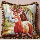 XL Deer Abusson Tapestry Pillow
