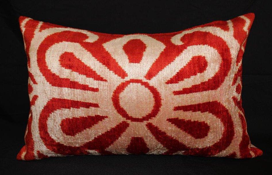 Sparta Silk Velvet Accent Pillow