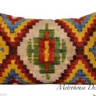VINTAGE SILK VELVET IKAT ACCENT PILLOW