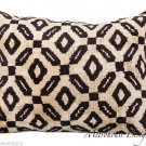 SILK IKAT LUMBAR ACCENT PILLOW ~ 16 x 23