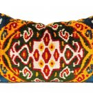 SILK VELVET IKAT PILLOW ~ Great colors!