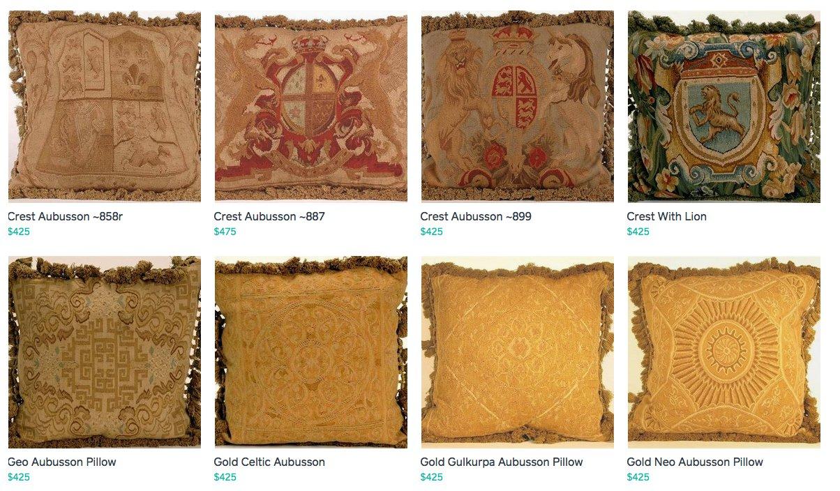 Upscale Aubusson Pillows ~B