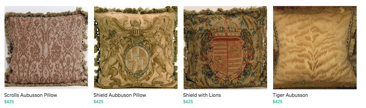 Upscale Aubusson Pillows ~C