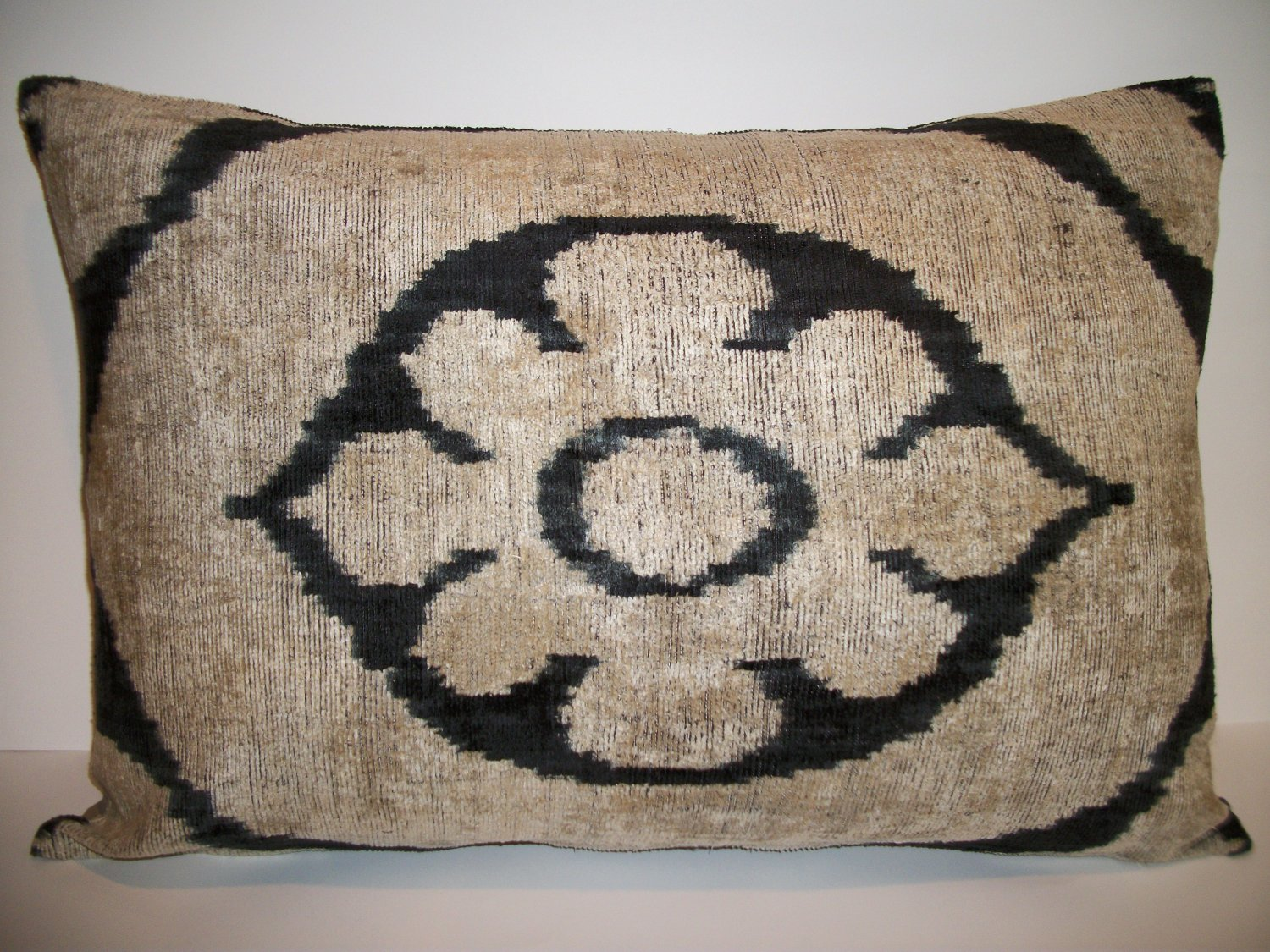 Silk Velvet Ikat Pillow ~ Allary