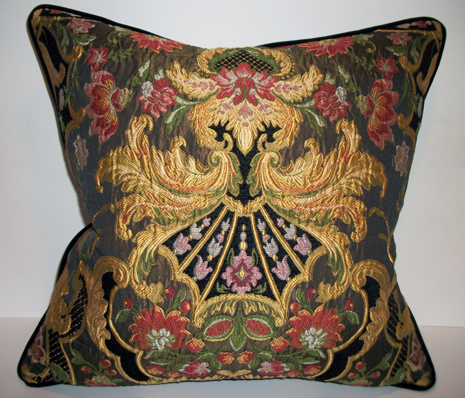 Aubusson Tapestry Chenille Pillow