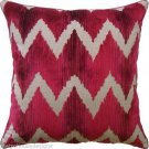 "LEE JOFA ""WATERSEDGE"" VELVET PILLOW ~COLOR: RED"