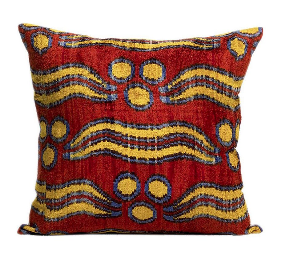 Bhangra Ikat Silk Pile Accent Pillows - A Pair