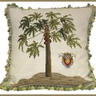 High End Papaya Needlepoint Pillow