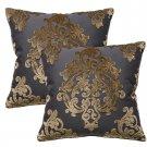 Pair Of Robert Allen Royal Beauty Slate Pillows