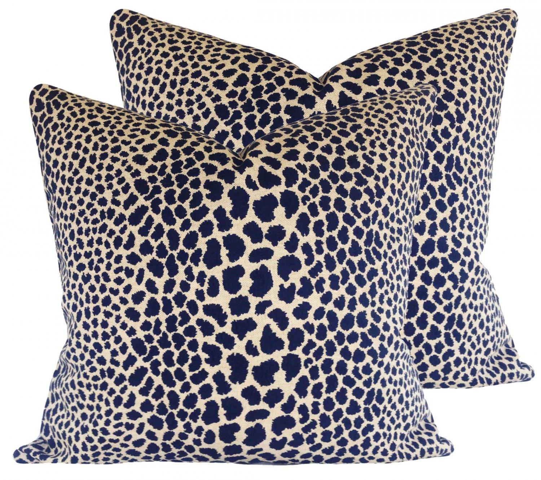 Schumacher Cheetah Accent Pillow