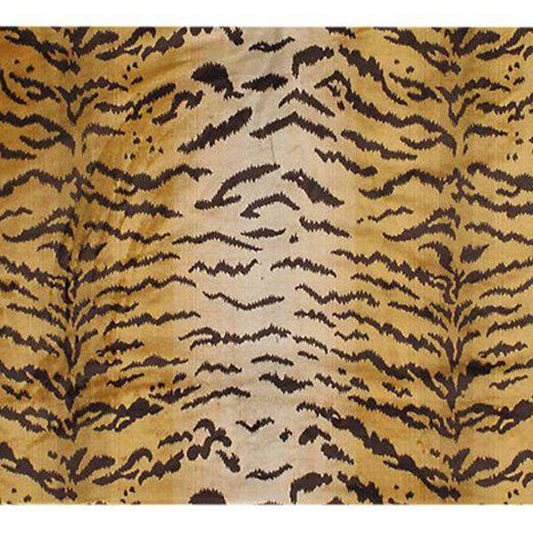 Old World Weavers Silk Pile Tiger Velvet Fabric - 3 Yards