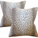 Antelope Linen Down Feather Designer Pillows -Set Of 2