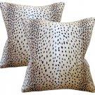 Antelope Linen Down Feather Designer Pillows -Set Of 2