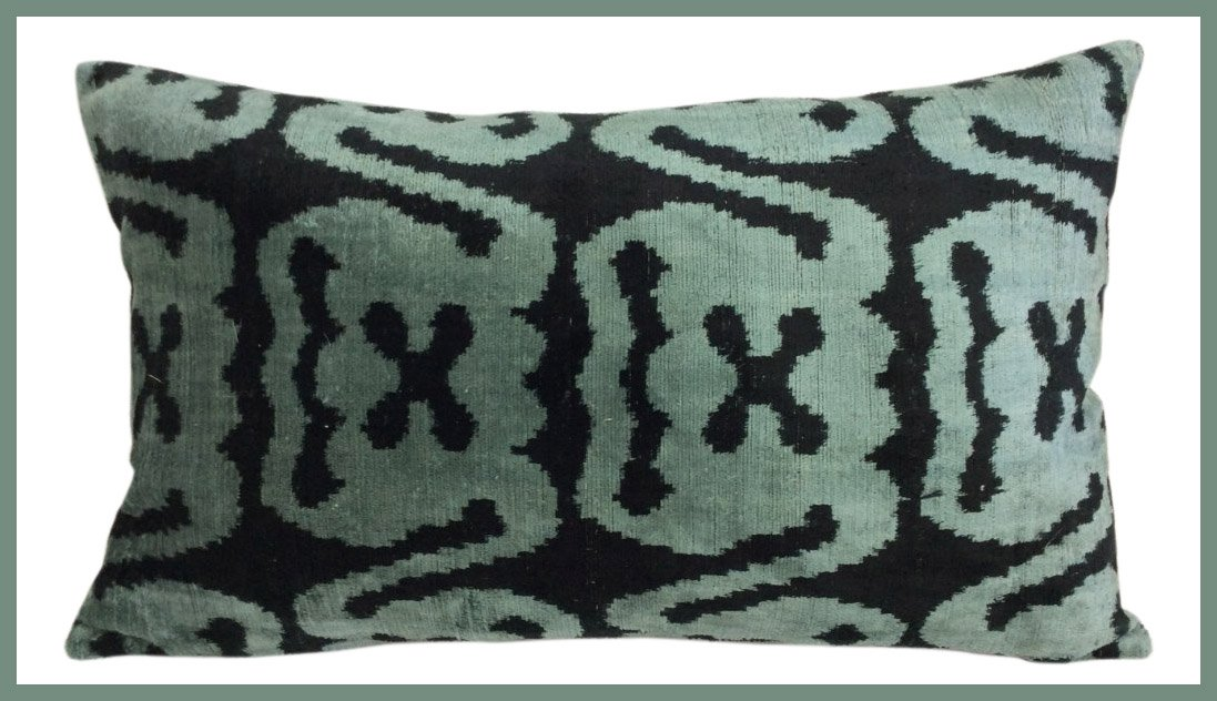 Vintage Silk Velvet Accent Pillow