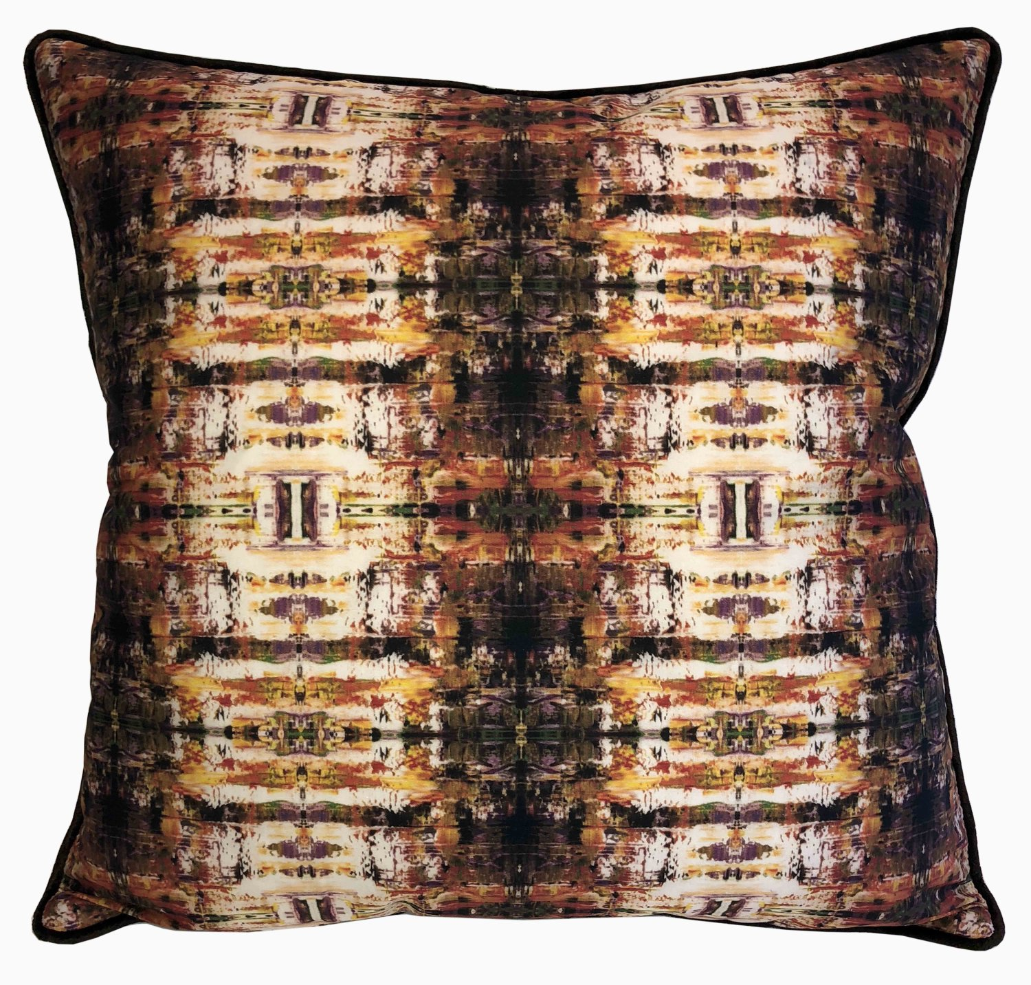 On Sale! Abstract Rachel Dolezal Designer Down Feather Accent Pillow