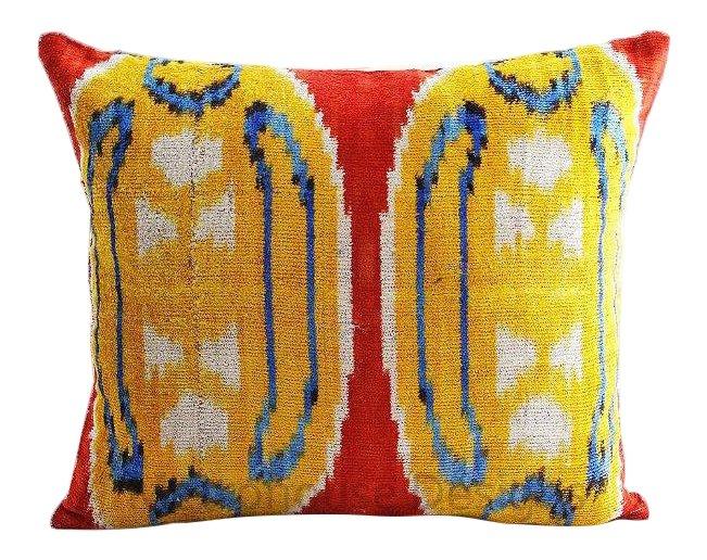Reduced: Vintage Silk Velvet Pillow