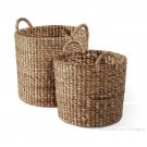Augustine Water Hyacinth Baskets - Set Of 2