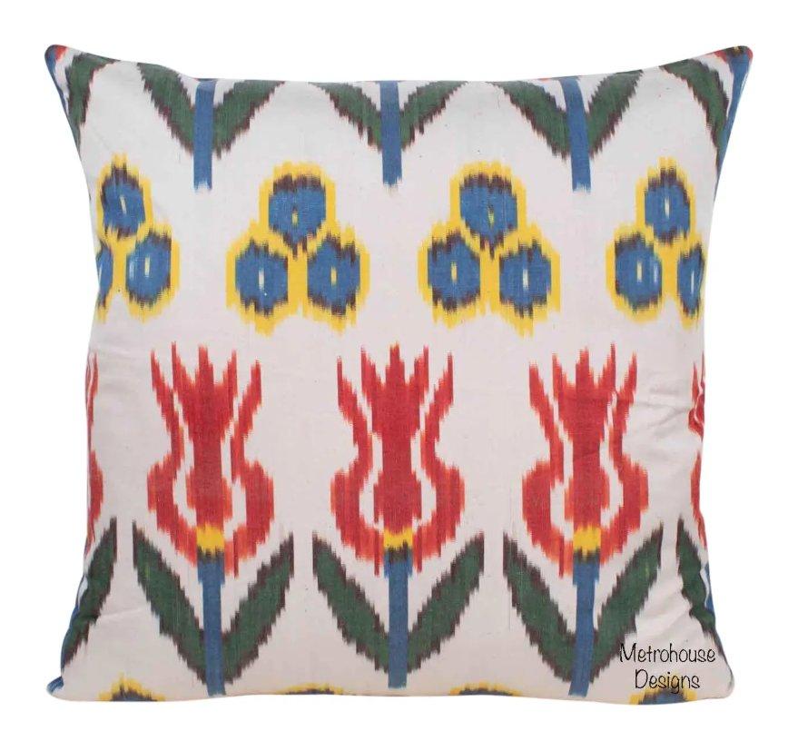 Silk Atlas Accent Throw Pillow