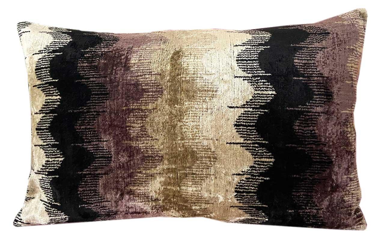 Silk Velvet Down Feather Lumbar Pillow Cover & Insert