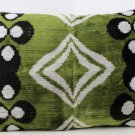 Oversize Reversible Silk Velvet Ikat Chintamani Pillow