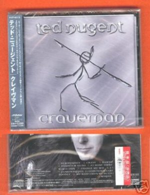 Ted Nugent Craveman JAPAN CD+OBI FACTORY SEALED PROMO