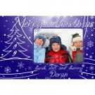 Blue Christmas-Photo Announcements-100 Count