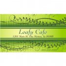 Leafy Cafe' Design-250 Cards w/ Matte Finish