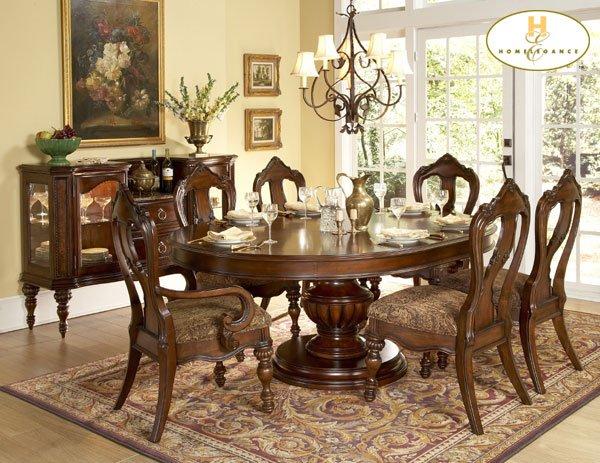 #1390-76 Prenzo Oval Dinning Table set