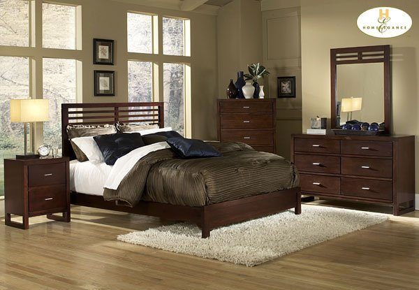 #1348 European panel bedroom 4pc set