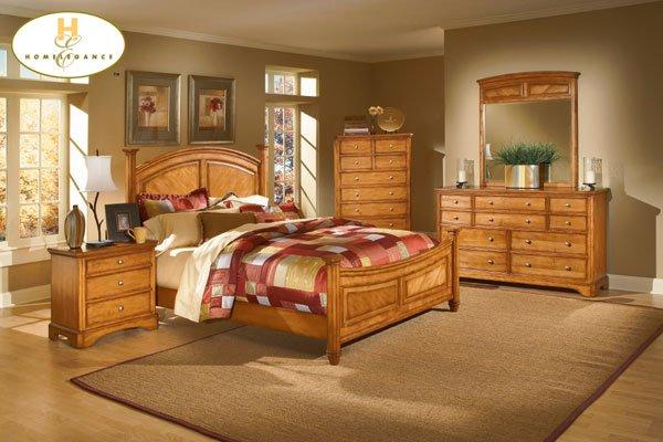 #982 Laural Heights Oak bedroom 4pc set