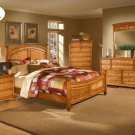 #982 Laural Heights Oak bedroom 4pc set