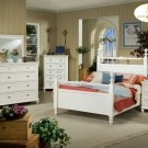 #889 Hanna Country White Bedroom 4pc set