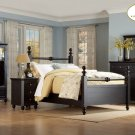 #889bk  Hanna Black Country Bedroom 4pc set