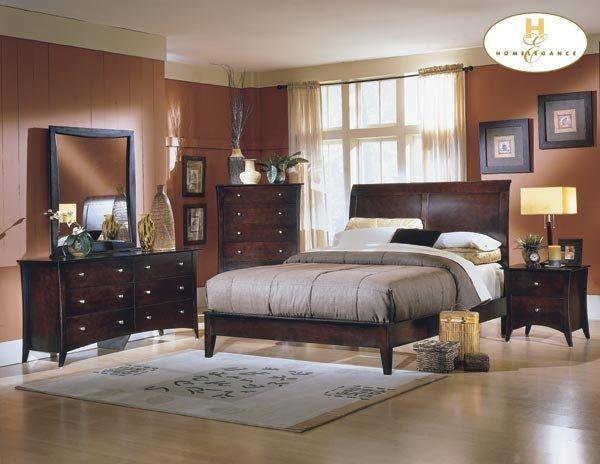 #874Borgeois platform bedroom 4pc set