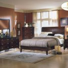 #874Borgeois platform bedroom 4pc set