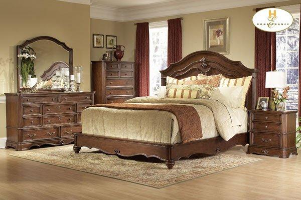 #558 Stanfordson Carved Panel Bedroom 4pc set