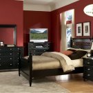 #839 Straford Black poster bedroom 4pc set